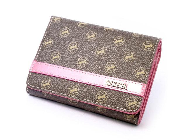 Signature(シグネチャー) 二つ折り財布(小銭入れあり) 「ゴールドファイル」 GP34213 ピンク 正面