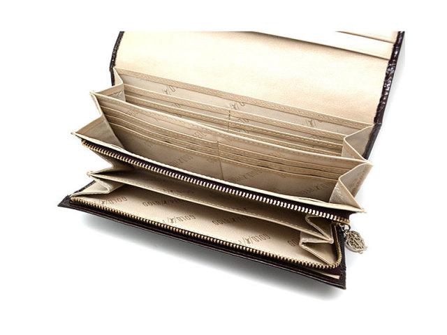 モノグラム 長財布 「ゴールドファイル」 GP36015 バーガンディ 内作り2