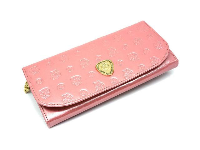モノグラム 長財布 「ゴールドファイル」 GP36015 ピンク 正面