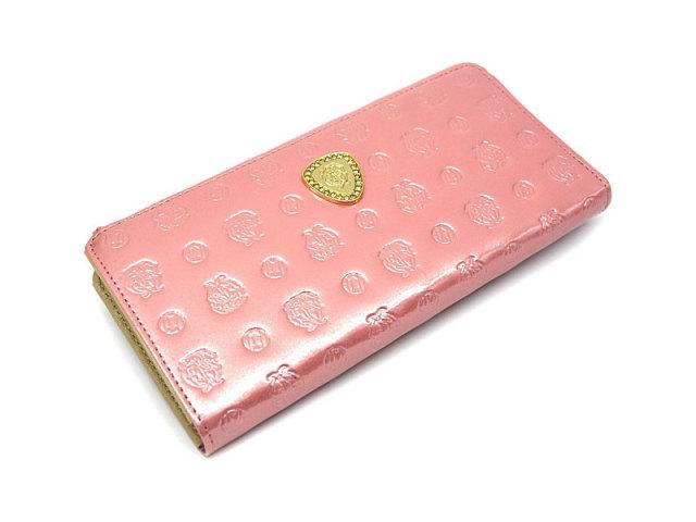 GP36113 モノグラム L字ファスナー長財布 「ゴールドファイル」 ピンク 正面