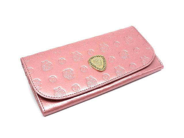 GP36210 モノグラム 外ファスナー長財布 「ゴールドファイル」 ピンク 正面
