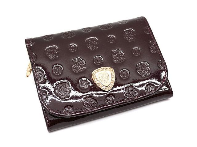 GP36315 モノグラム 二つ折り財布(小銭入れあり) 「ゴールドファイル」  バーガンディ 正面