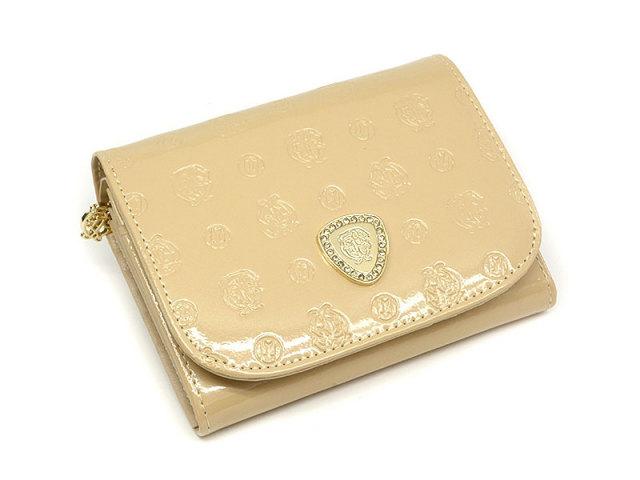 GP36315 モノグラム 二つ折り財布(小銭入れあり) 「ゴールドファイル」  シャンパンゴールド 正面