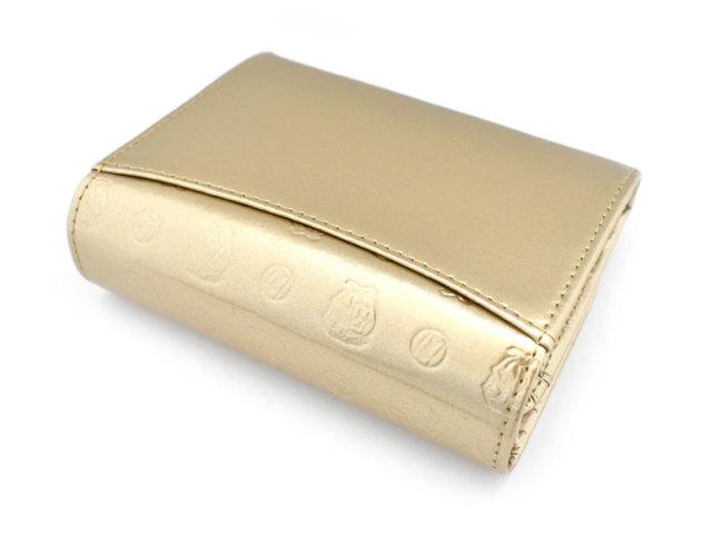 モノグラム 二つ折り財布(小銭入れあり) 「ゴールドファイル」 GP36315 ゴールド 裏面