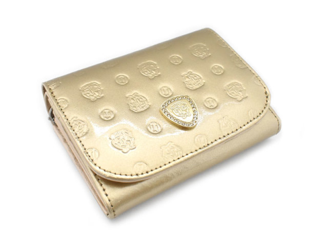 モノグラム 二つ折り財布(小銭入れあり) 「ゴールドファイル」 GP36315 ゴールド 正面