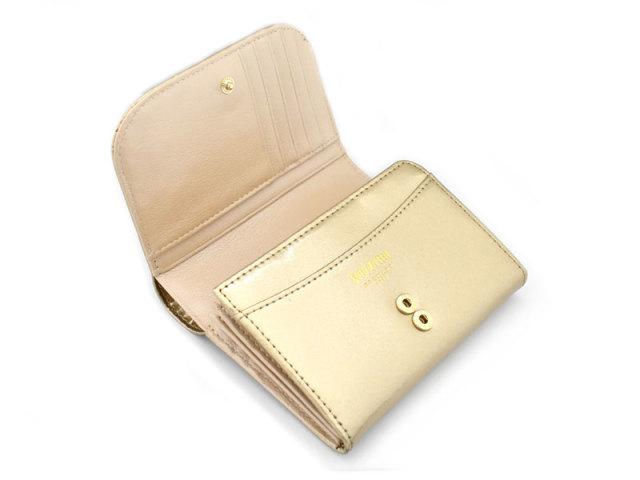 モノグラム 二つ折り財布(小銭入れあり) 「ゴールドファイル」 GP36315 ゴールド 内作り