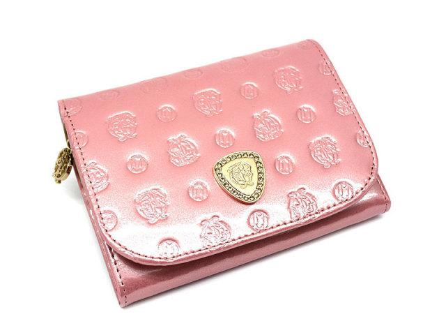 モノグラム 二つ折り財布(小銭入れあり) 「ゴールドファイル」 GP36315 ピンク 正面