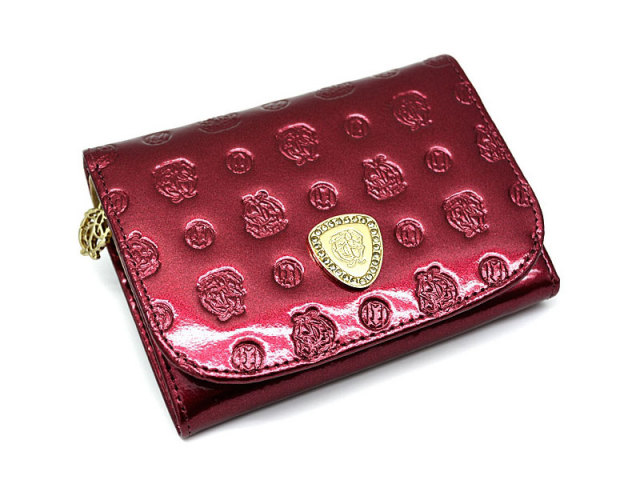 GP36315 モノグラム 二つ折り財布(小銭入れあり) 「ゴールドファイル」  ワイン 正面