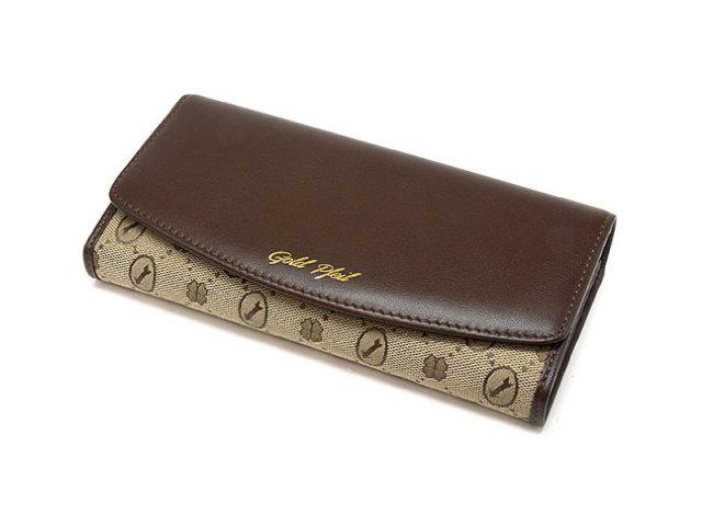 Coordinates2(コーディネート2) 長財布 「ゴールドファイル」 GP52017 チョコ 正面