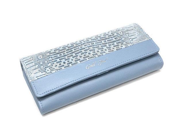 Pastel Lizard(パステルリザード) 長財布 「ゴールドファイル」 GP53015 ブルー 正面