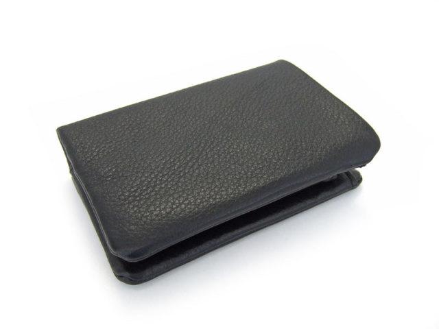 Natural(ナチュラル) 二つ折り財布(BOX小銭入れあり) 「ゴールドファイル」 GP54113 クロ 正面