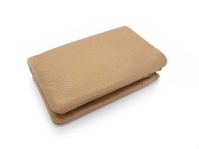 Natural(ナチュラル) 二つ折り財布(BOX小銭入れあり) 「ゴールドファイル」 GP54113 オーク 正面