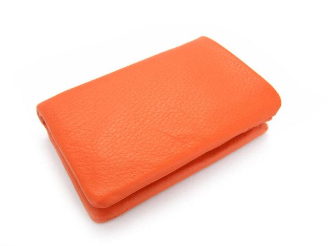 Natural(ナチュラル) 二つ折り財布(BOX小銭入れあり) 「ゴールドファイル」 GP54113 オレンジ 正面
