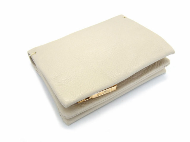 Natural(ナチュラル) 二つ折り財布(ファスナー小銭入れ付き) 「ゴールドファイル」 GP54214 アイボリー 正面