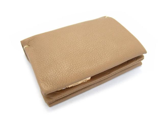 Natural(ナチュラル) 二つ折り財布(ファスナー小銭入れ付き) 「ゴールドファイル」 GP54214 オーク 正面