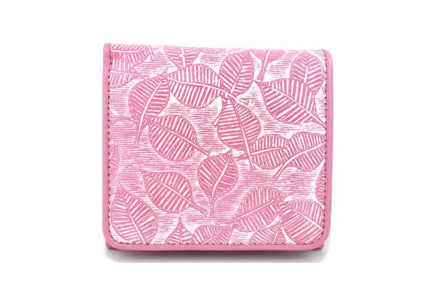 Leaf(リーフ) 二つ折り財布 「ゴールドファイル」 GP56412 パールピンク 正面