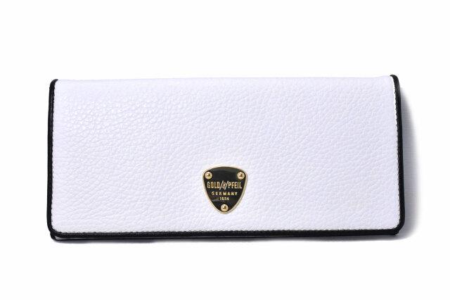LINES(ラインズ) 長財布 「ゴールドファイル」 GP57015 シロ 正面