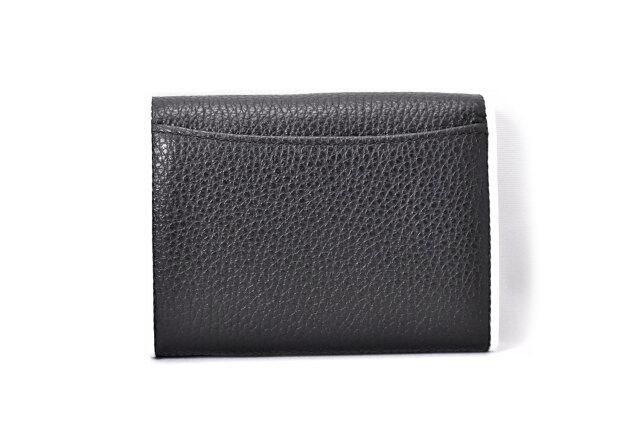 LINES(ラインズ) 二つ折り財布(小銭入れあり) 「ゴールドファイル」 GP57213 クロ 裏面