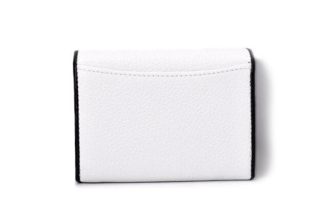 LINES(ラインズ) 二つ折り財布(小銭入れあり) 「ゴールドファイル」 GP57213 シロ 裏面