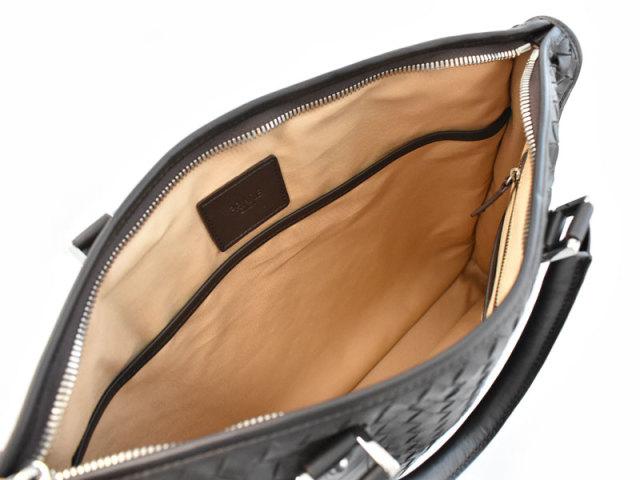 イントレチャート ビジネスバッグA4 ブリーフケース 「プレリーギンザ」 NA53349 チョコ 内作り