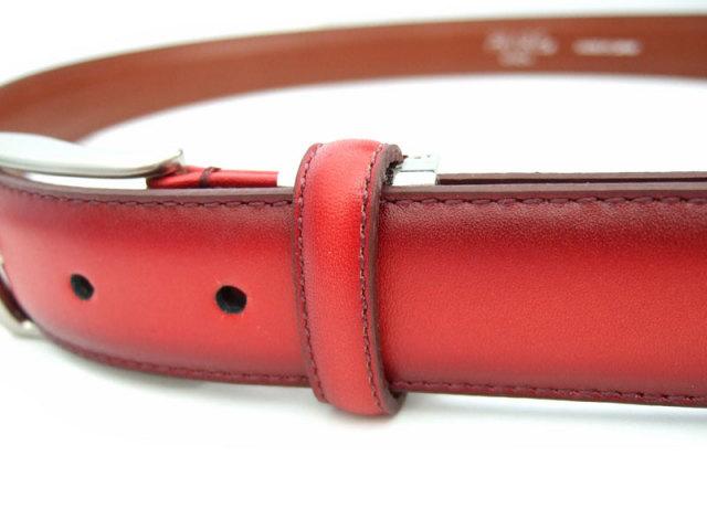 牛革 グラデーション ベルト 30mm幅 ピン式 「プレリーギンザ」 NB01080 特徴