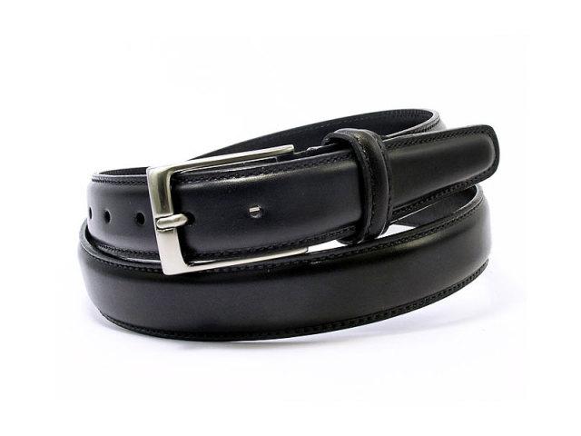 牛革 チャ系色バリエーションベルト 30mm幅 ピン式 「プレリーギンザ」 NB17710 クロ 正面