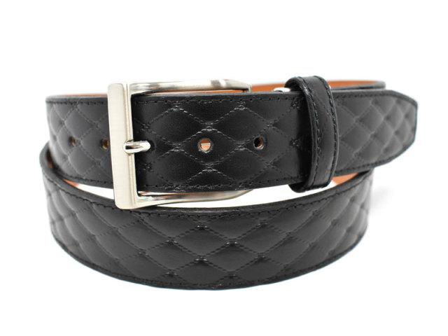 Quilt Design Belt (キルトデザインベルト) 「プレリー1957」 NBZ1000 クロ 正面