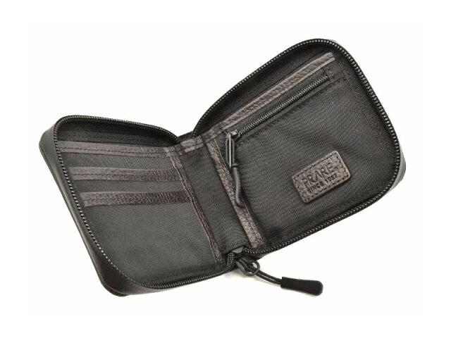 ACTIVE(アクティブ) アウトドアラウンドファスナー二つ折り財布 「プレリー1957」 NP00210 グレー 内作り