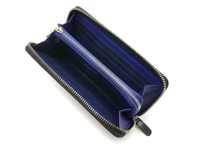 Cordovan Color (コードバンカラー) ラウンドファスナー長財布 「プレリー1957」 NP01029 クロ/ブルー 内作り