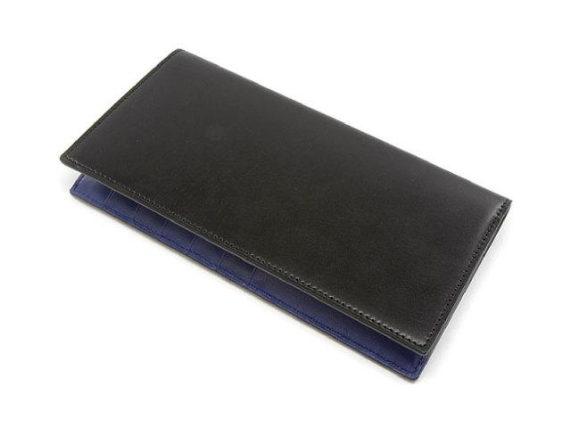 Cordovan Color(コードバンカラー) 長財布 「プレリー1957」 NP01123 クロ/ブルー 正面