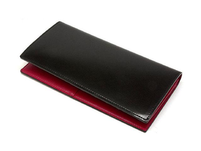 Cordovan Color(コードバンカラー) 長財布 「プレリー1957」 NP01123 クロ/アカ 正面