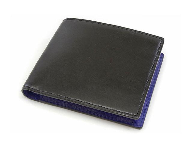 Cordovan Color(コードバンカラー) 二つ折り財布(小銭入れあり) 「プレリー1957」 NP01220 クロ/ブルー 正面