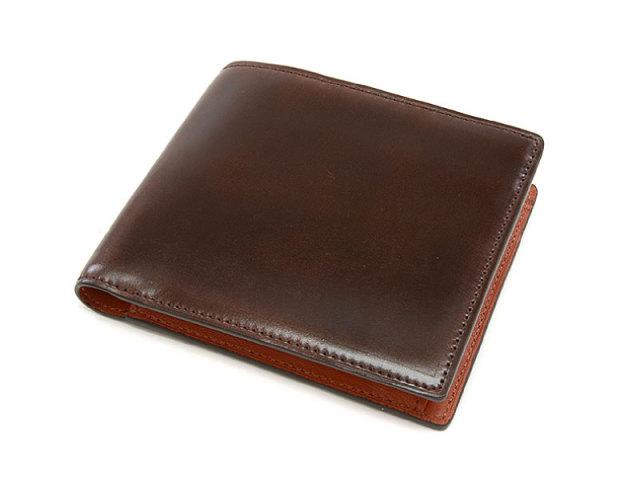Cordovan Color(コードバンカラー) 二つ折り財布(小銭入れあり) 「プレリー1957」 NP01220 チョコ 正面