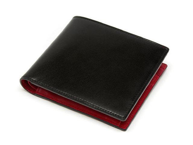 Cordovan Color(コードバンカラー) 二つ折り財布(小銭入れあり) 「プレリー1957」 NP01220 クロ/アカ 正面