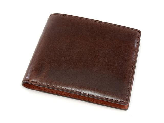 Cordovan Color (コードバンカラー) 二つ折り財布(小銭入れなし)  「プレリー1957」 NP01318 チョコ 正面