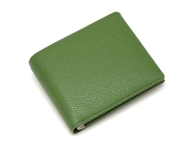 il nesso(イルネッソ) 二つ折り財布(小銭入れあり) 「プレリー1957」 NP02211 グリーン 正面