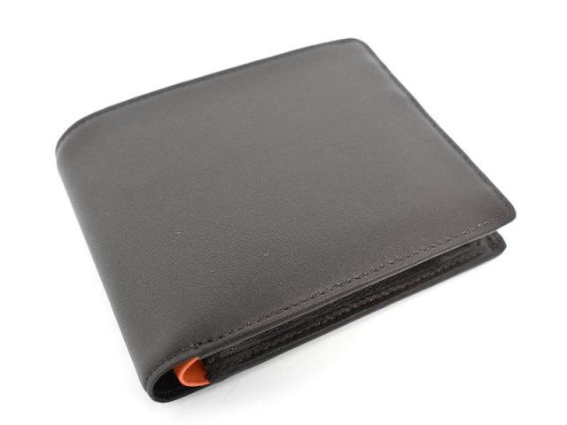 Charmant(シャルマン)二つ折り財布(小銭入れあり) 「プレリー1957」 NP04111 チョコ 表面