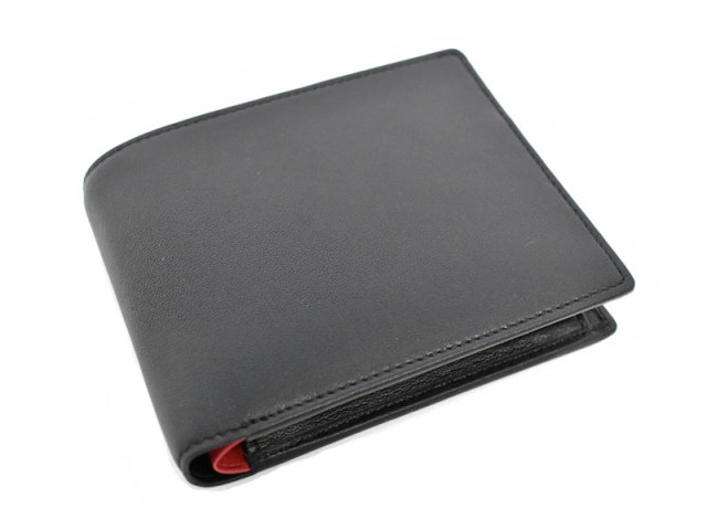 Charmant(シャルマン)中ベラ付き二つ折り財布(小銭入れあり) 「プレリー1957」 NP04213 クロ 表面