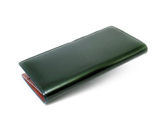 コードバン 長財布(ササマチ) 「プレリー1957」 NP07121 グリーン 正面