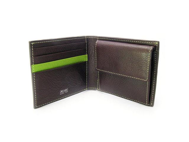 ピープル 二つ折り財布(小銭入れあり) 「プレリー1957」 NP10111 グリーン 内作り