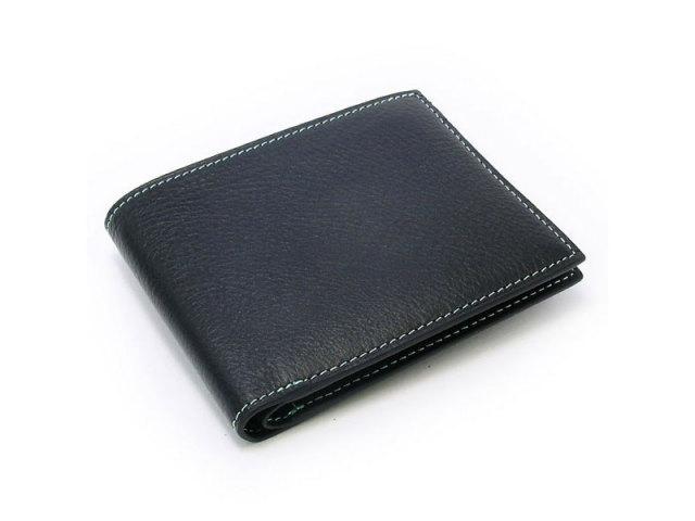 ピープル 二つ折り財布(小銭入れなし) 「プレリー1957」 NP10295 ブルー 正面