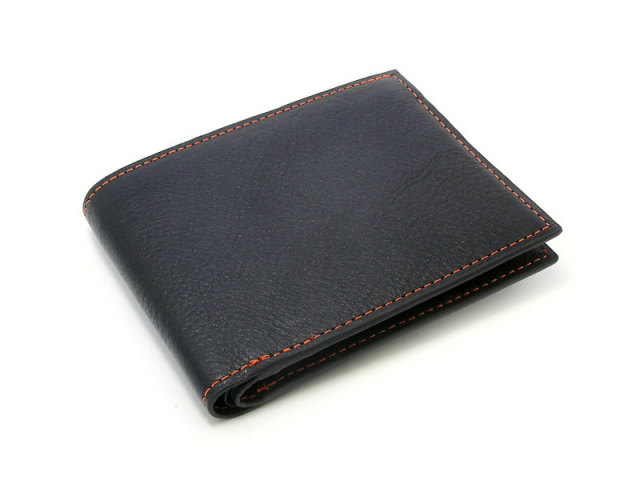 ピープル 二つ折り財布(小銭入れなし) 「プレリー1957」 NP10295 オレンジ 正面
