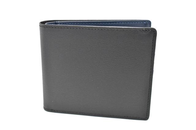 フレンチボックスカーフ 二つ折り財布(小銭入れあり) 「プレリー1957」 NP11212 クロ 正面