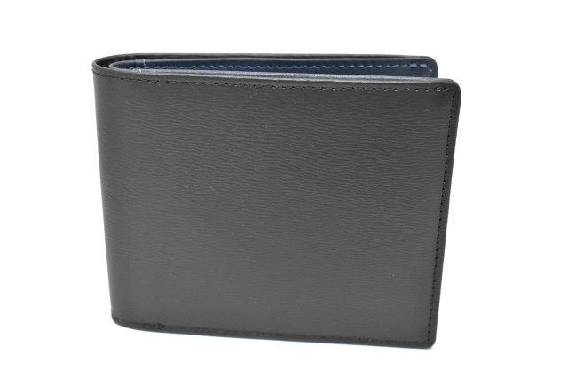 フレンチボックスカーフ 二つ折り財布(小銭入れなし) 「プレリー1957」 NP11311 クロ 正面