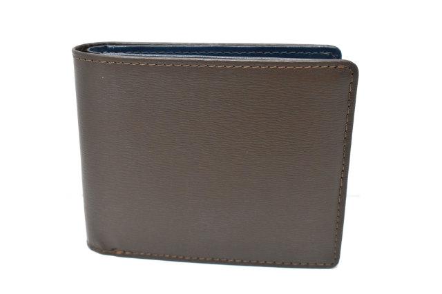 フレンチボックスカーフ 二つ折り財布(小銭入れなし) 「プレリー1957」 NP11311 チョコ 正面