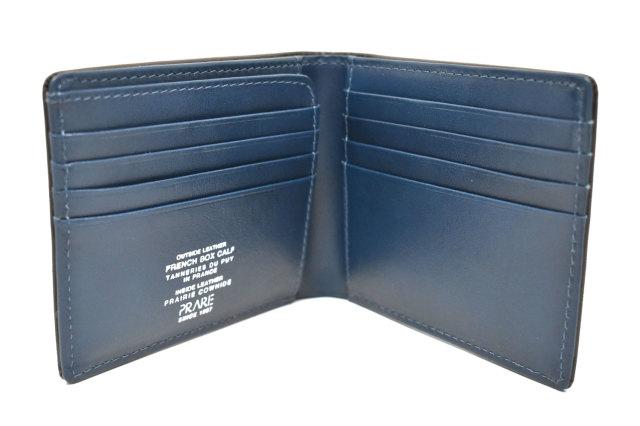 フレンチボックスカーフ 二つ折り財布(小銭入れなし) 「プレリー1957」 NP11311 チョコ 内作り