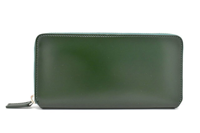 CORDOVAN1957(コードバン1957)ラウンドファスナー長財布 「プレリー1957」 NP12030 グリーン 正面