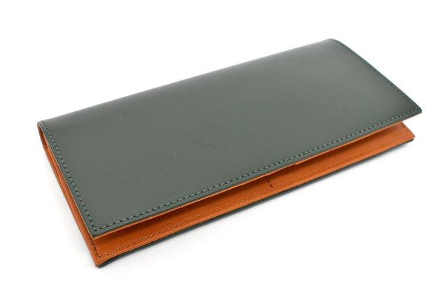 CORDOVAN1957(コードバン1957) 長財布(小銭入れあり) 「プレリー1957」 NP12127 グリーン 正面