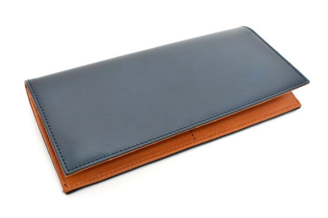 CORDOVAN1957(コードバン1957) 長財布(小銭入れあり) 「プレリー1957」 NP12127 ネイビー 正面