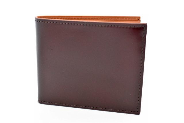 CORDOVAN1957(コードバン1957) 二つ折り財布(小銭入れなし) 「プレリー1957」 NP12318 チョコ 正面